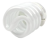 TCP 23W Cool White Spiral CFL Bulb, E26 Base