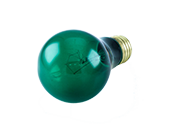 Bulbrite 25W 120V Green A19 Transparent E26 Base