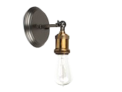 Bulbrite Nostalgic Wall Sconce Fixture, Antique Pewter Finish