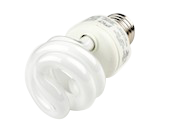 TCP 9W Neutral White Spiral CFL Bulb, E26 Base