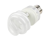 TCP 9W Bright White Spiral CFL Bulb, E26 Base