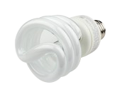 TCP 19W Neutral White Spiral CFL Bulb, E26 Base