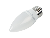 TCP Dimmable 5W 2700K Decorative Frosted LED Bulb, E26 Base