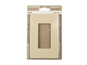 Lutron Claro Screwless Single-Gang Wallplate, Ivory