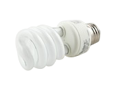 TCP 60 Watt Incandescent Equivalent, 13 Watt, 120 Volt Bright White Spiral CFL Bulb (Pack of 3)