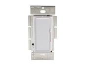 Lutron Diva 250W, 120V LED/CFL Slide Dimmer and Paddle On/Off 3-Way Switch, White