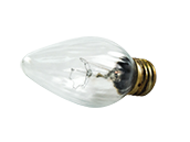 Safety Coated 60 Watt, 130 Volt F15 Clear Fiesta Decorative Bulb (Pack of 2)