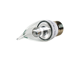 TCP Dimmable 4W Clear Decorative LED Bulb, E26 Base