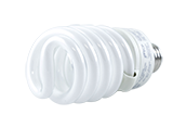 TCP 27W Soft White Spiral CFL Bulb, E26 Base (Pack of 6)