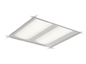 Day-Brite DuaLED Dimmable 35W 3500K 2x2 ft Recessed LED Troffer