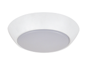 75 Watt Equivalent, 10 Watt 3000K Dimmable LED Flush Mount Compact Ceiling Fixture