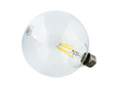 Satco Dimmable 4.5W 2700K G40 Filament LED Bulb, Rated For Enclosed Fixtures