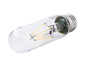 Satco Dimmable 4.5W 2700K T10 LED Filament Bulb, Enclosed Fixture Rated
