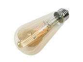 Satco Dimmable 4.5W 2000K Vintage ST19 Filament LED Bulb, Enclosed Fixture Rated