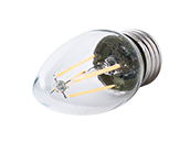 Satco Dimmable 4.5W 2700K B11 Decorative Filament LED Bulb, Enclosed Fixture Rated