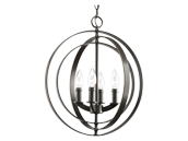 Progress Lighting Four-light Sphere Candelabra Pendant