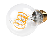 Bulbrite Dimmable 4W 2200K Curved Filament A-19 LED Bulb