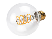 Bulbrite Dimmable 4W 2200K G25 Curved Filament LED Bulb