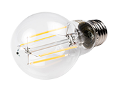 Bulbrite Dimmable 7W 3000K A19 Filament LED Bulb, Enclosed Fixture and Wet Rated