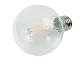 Satco Dimmable 4.5W 2700K G25 Filament LED Bulb, Enclosed Fixture Rated