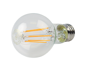 TCP Dimmable 8W 2200K A19 Vintage Filament LED Bulb, Enclosed Rated