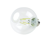 QLS Dimmable 4W 2700K G-25 Filament LED Bulb, Enclosed Fixture Rated