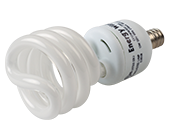 Bulbrite 13W 120V Warm White Spiral CFL Bulb, E12 Base