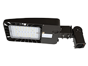 Energetic 156 Watt, 400 Watt Equivalent, Dimmable 5000K Slim LED Area Fixture With Slip Fitter and Photocell, Type III