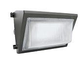 GlobaLux 300 Watt Equivalent, 80 Watt Forward Throw LED Wallpack Fixture With Photocell, 5000K