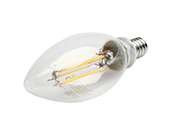 QLS Dimmable 5.5W 2700K Decorative Filament LED Bulb, Enclosed Rated
