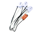 Keystone T8 Retrofit 3-Lamp Wiring Harness for LED Tubes
