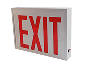NYC-Approved Universal Steel Exit Sign with Battery Back-up
