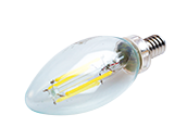 Satco Dimmable 4W 4000K Decorative Filament LED Bulb, Enclosed Fixture Rated