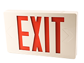 Exitronix LED Exit Sign with Battery Backup with Remote Head Capability