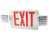 Exitronix LED Dual Head Exit/Emergency Sign With Battery Backup and Remote Head Capability