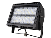 NaturaLED Dimmable 100 Watt, 400-575 Watt Equivalent, 5000K LED Flood Light Fixture With Yoke Mount