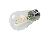 Bulbrite Dimmable 2.5W 2700K S14 Filament LED Bulb, Rated For Enclosed Fixtures