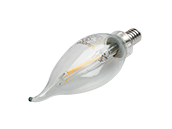 Satco Dimmable 2.5W 2700K CA11 Decorative Filament LED Bulb, Enclosed Fixture Rated