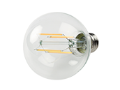 Bulbrite Dimmable 8.5W 2700K 90 CRI G25 Filament LED Bulb, Enclosed and Wet Rated