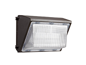 65 Watt, 120-277V, 250 Watt Equivalent 5000K Forward Throw LED Wallpack Fixture with Photocell