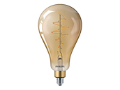 Philips Non-Dimmable 5.5W 2000K Vintage A50 Filament LED Bulb, Enclosed Rated