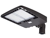 Energetic 315W, 750W Equivalent, Dimmable 5000K Slim LED Area Fixture With Slip Fitter and Photocell, Type III