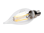 Bulbrite Dimmable 4.5W 3000K Decorative Filament LED Bulb, Enclosed Rated