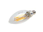 Bulbrite Dimmable 4.5W 2700K Decorative Filament LED Bulb, Enclosed Rated