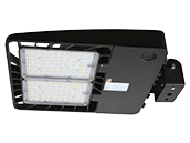 Energetic 366W, 1000W Equivalent, Dimmable 5000K Slim LED Area Fixture With Swivel Bracket and Photocell, Type III