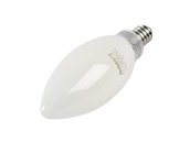 Bulbrite Dimmable 3.6W 2700K Decorative Frosted Filament LED Bulb, Enclosed Fixture Rated