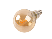 Bulbrite Dimmable 2.5W 2200K Vintage G-16 Filament LED Bulb, E12 Base, Rated For Enclosed Fixtures