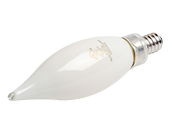 Bulbrite Dimmable 3.6W 2700K Decorative Frosted Filament LED Bulb, Enclosed Rated