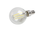 TCP Dimmable 4W 5000K G-16 Filament LED Bulb, Enclosed Rated