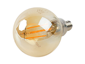 Philips Dimmable 4.5W 2000K Vintage G-16.5 Filament LED Bulb, Outdoor Rated, Title 20 Compliant